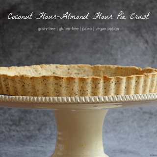 Coconut Flour-Almond Flour Pie Crust {grainfree+paleo+vegan option}