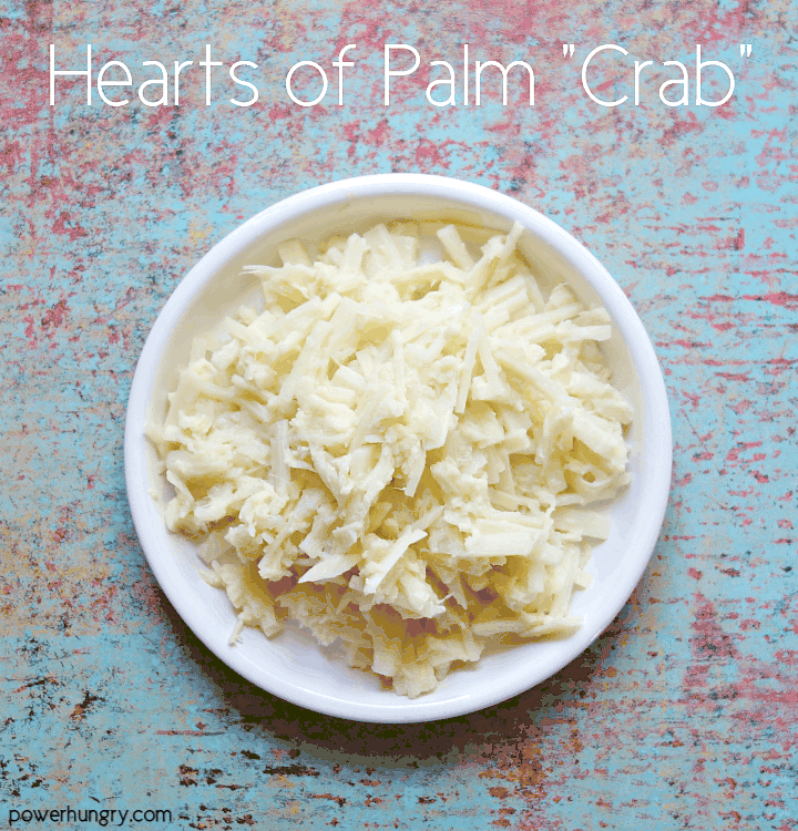 Shredded Hearts of Palm Vegan Crab