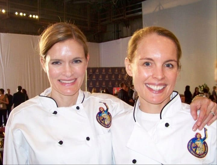 two blonde chefs