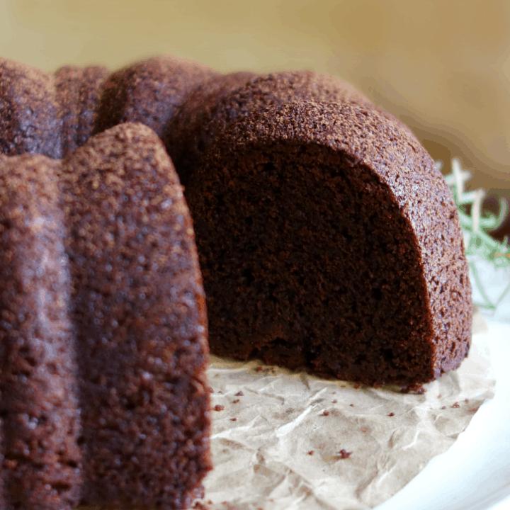 Vegan Chocolate Bundt Cake {Gluten-Free}