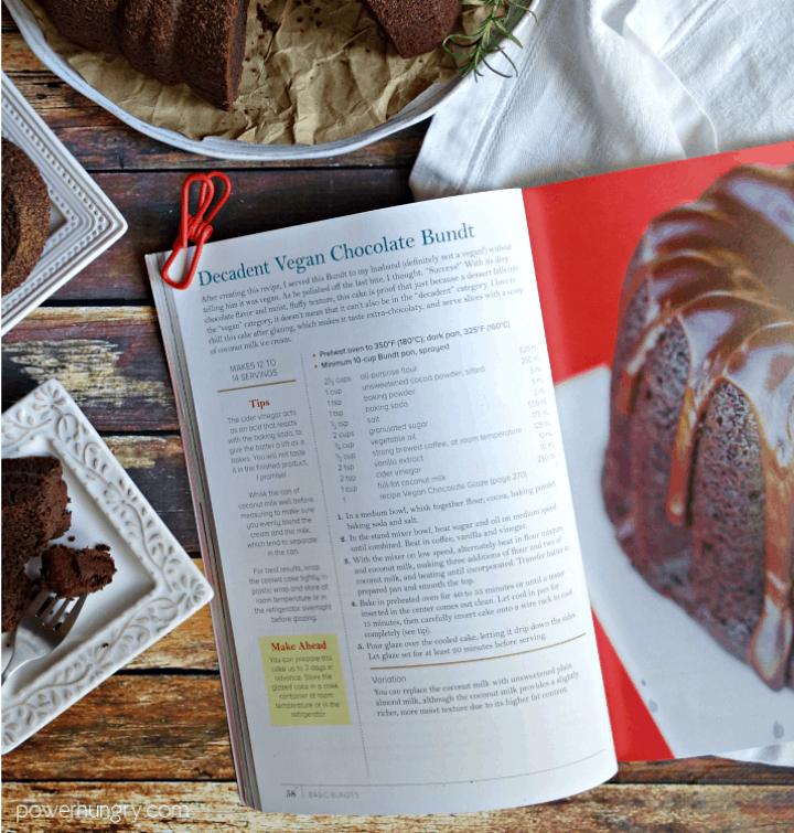 page of cake cookbook
