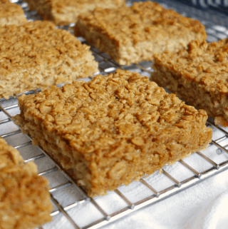 3-Ingredient Coconut Baked Oatmeal Squares {V+ GF}