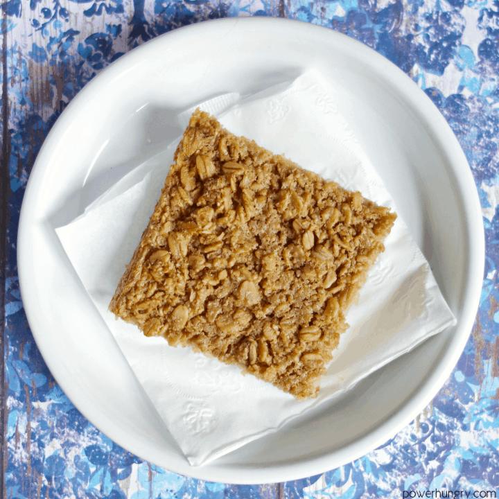 3-Ingredient Coconut Baked Oatmeal Squares {V+ GF}