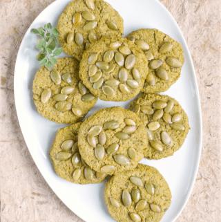 Baked Pepita Falafel {vegan, Paleo & no beans}