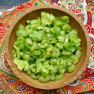 Lemony Celery Crunch Salad {vegan & paleo}