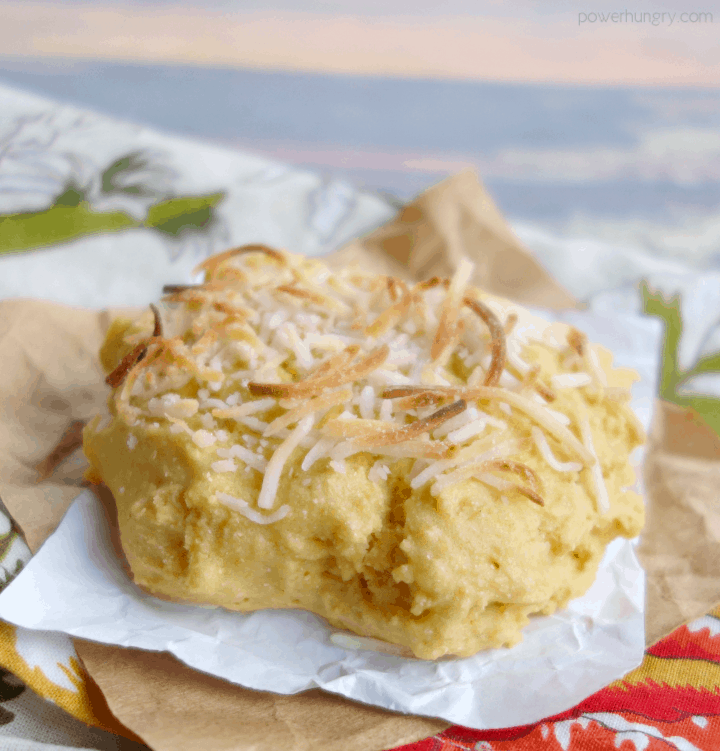 coconut topped grain-free vegan biscuit