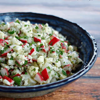 Chopped Radish-Cauliflower Winter Salad