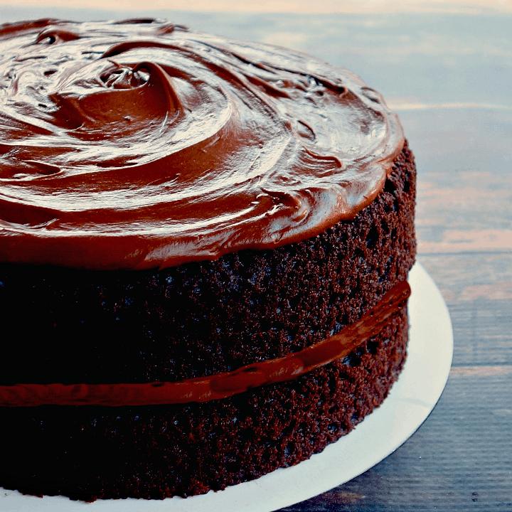 Vegan Chickpea Flour Chocolate Cake {Grain-Free, 1-Bowl}