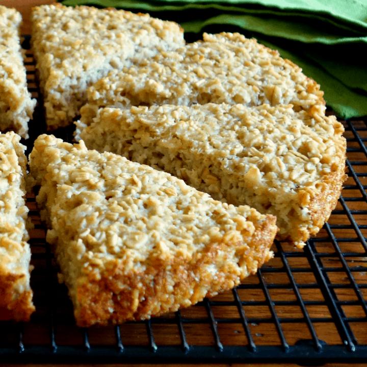 Rustic Irish Oat Scone Bread {vegan, gluten-free}
