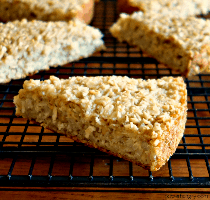 close up of a piece of Irish oat scone bread on a black cooling rack