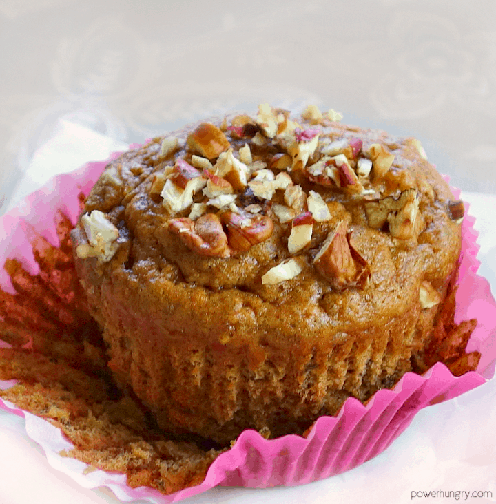partially unwrapped vegan hummingbird muffin