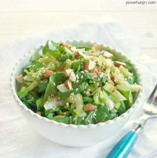 Baby Bok Choy Chopped Salad with Ginger-Sesame Dressing