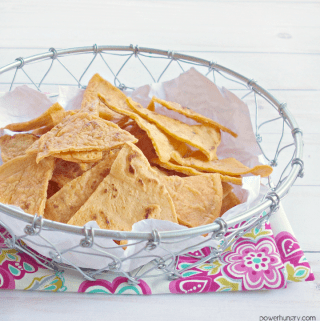 Red Lentil Tortilla Chips {Grain-Free, Vegan}