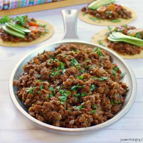 Lentil Taco Meat {Vegan, Grain-Free, High-Protein}