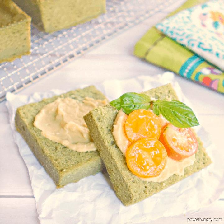 Super Green Herb Bread {Grain-Free, Vegan}