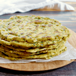 Zucchini Skillet Flatbreads {Grain-Free, Vegan, Easy}
