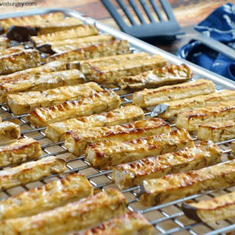 Baked Chickpea Flour Eggplant Fries {Grain-Free, Vegan, Easy}