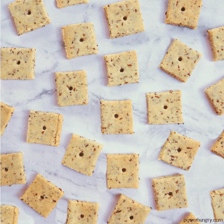 2-Ingredient Almond Flour Crackers {Grain-free, Vegan, Paleo}