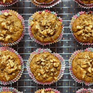 1-Bowl Zucchini Muffins {Grain-Free, Vegan, Oil-Free}