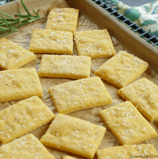 Cheesey Chickpea Flour Crackers {grainfree, vegan, high-protein}
