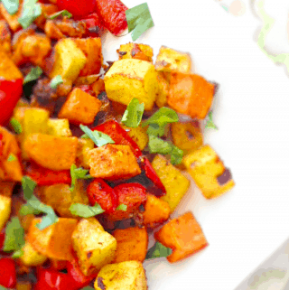 Roasted Carrot & Parsnip Hash {Vegan, Paleo, Keto}