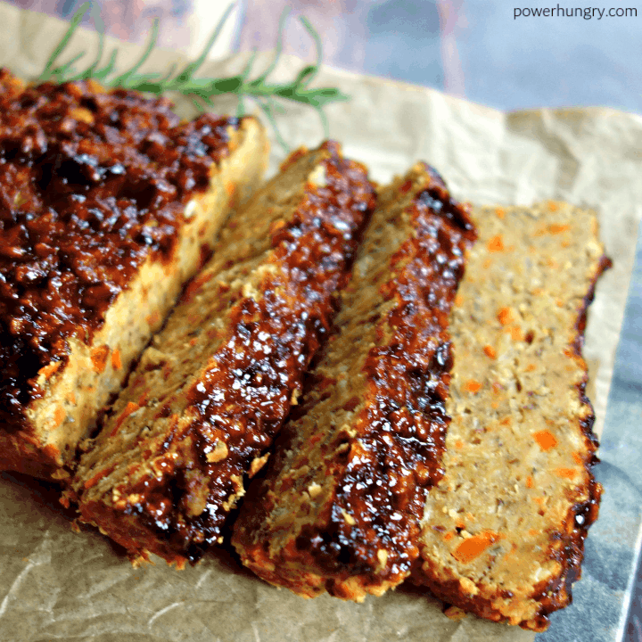 Grain-Free Lentil Loaf {Vegan, High Protein}