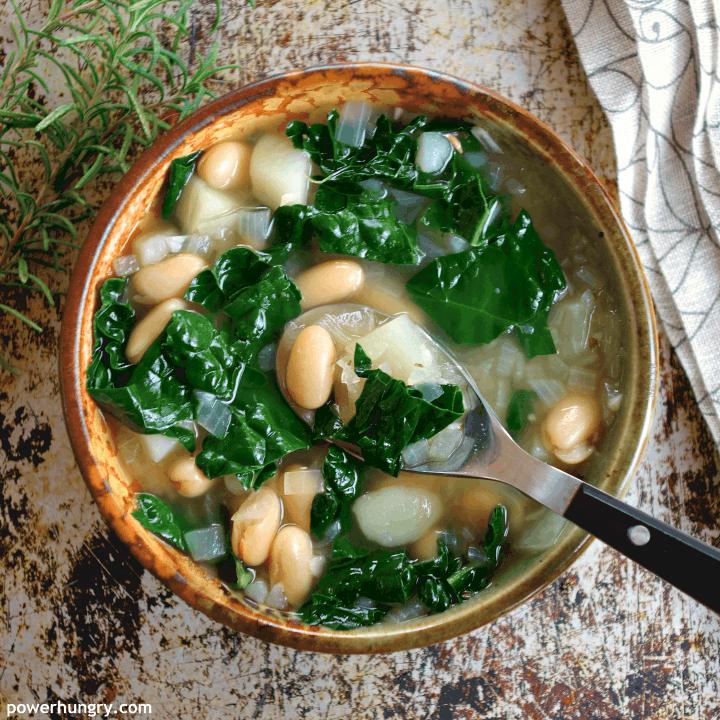 Kale, Potato & White Bean Soup {Vegan, High-Protein, Easy}