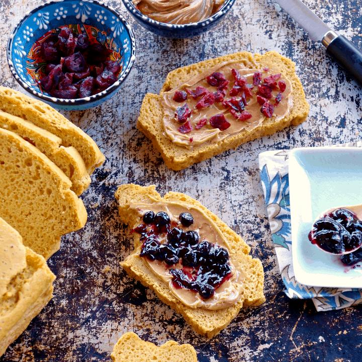 Chickpea Flour Sandwich Bread {grain-free, vegan, 5 ingredients}