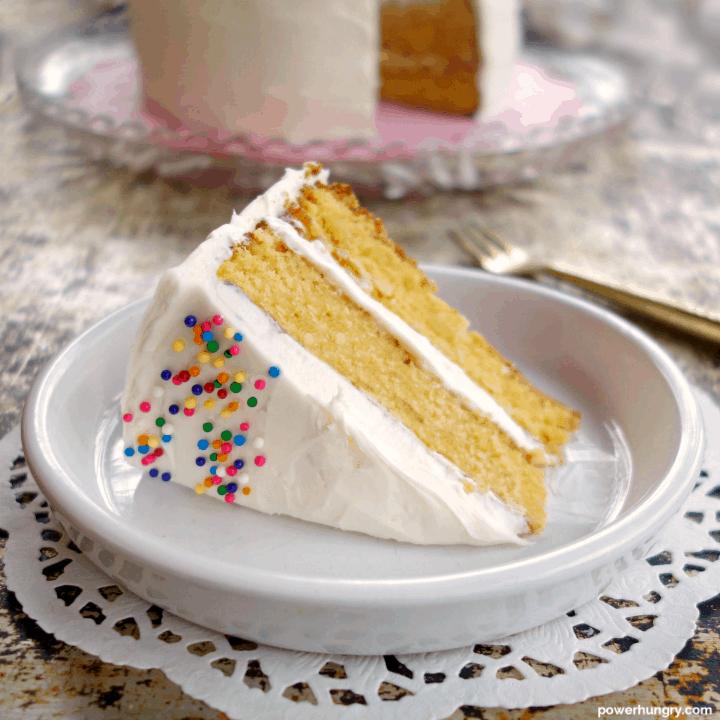Vanilla Layer Cake {Grain-Free & Vegan}