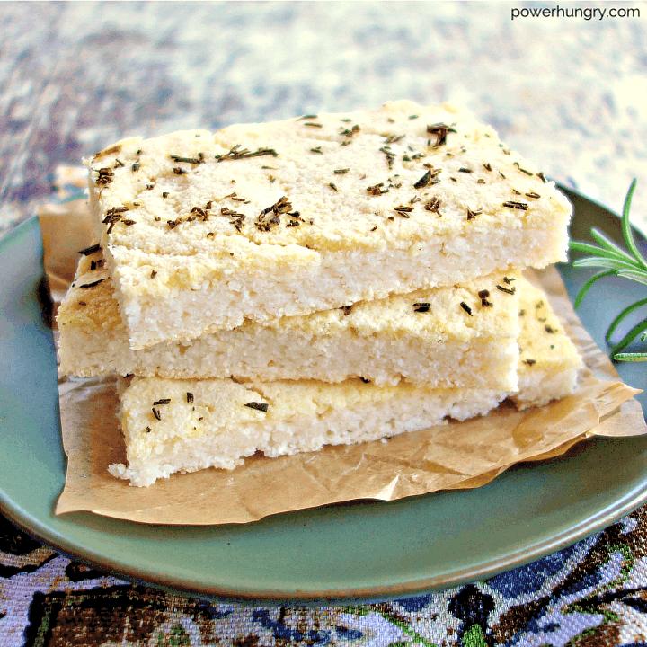 4-Ingredient White Bean Flatbread {grain-free, vegan}