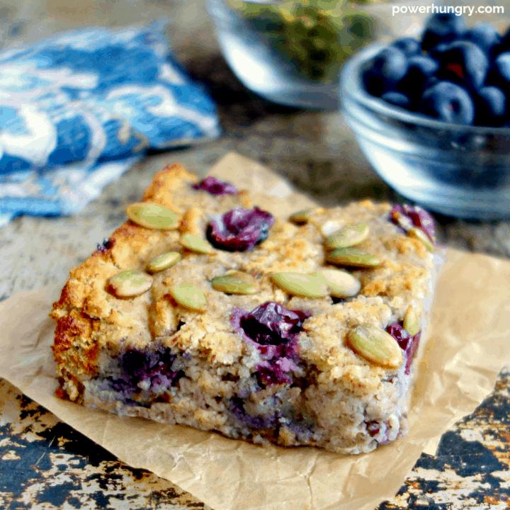 Grain-Free Blueberry Baked Porridge {vegan, keto option}