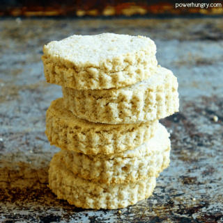 Stack of Five Oat & Coconut Flour Biscuits