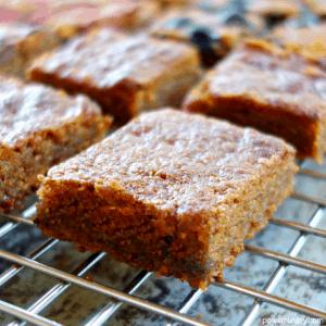 4-Ingredient Keto Peanut Butter Blondies {Vegan, Grain-Free, Oil-Free}
