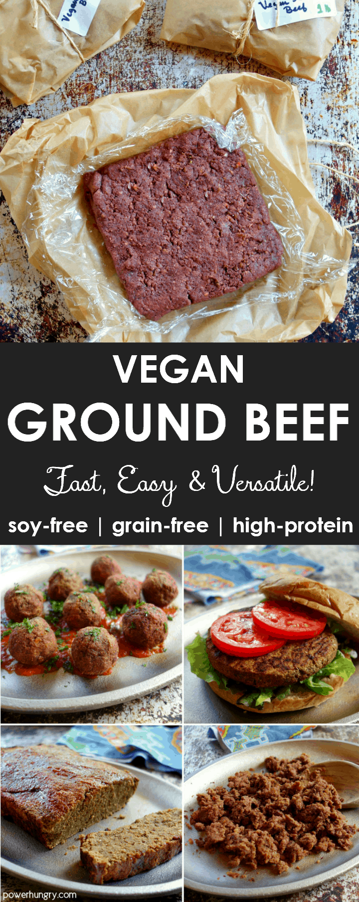 Easy DIY vegan ground beef that is grain-free