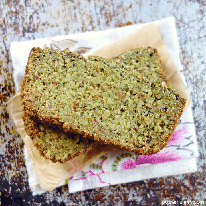 close-up of slices of Healthy Zucchini Oat & coconut flour Bread