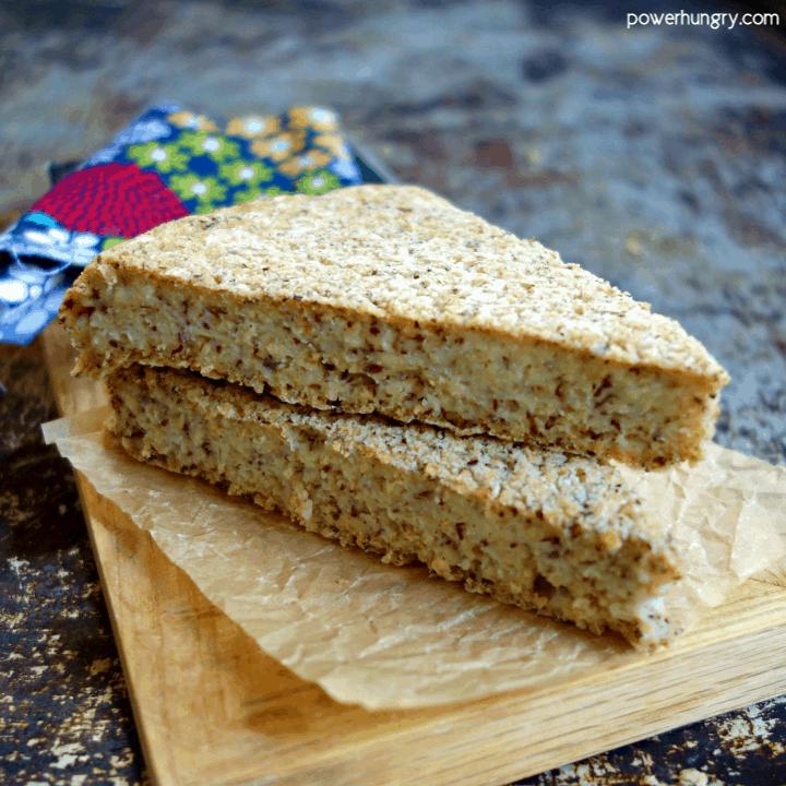 Oat Flax Skillet Bread {3 ingredients, Vegan, Oil-Free, GF}