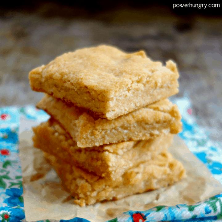 4-Ingredient Almond Flour Blondies {Vegan, Grain-Free, Paleo, Keto Option}