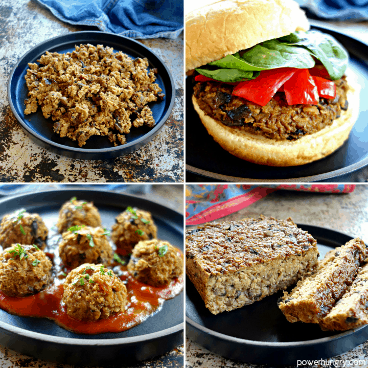 Vegan Oat and Mushroom Ground Beef {Gluten-Free, Soy-Free, Nut-Free}