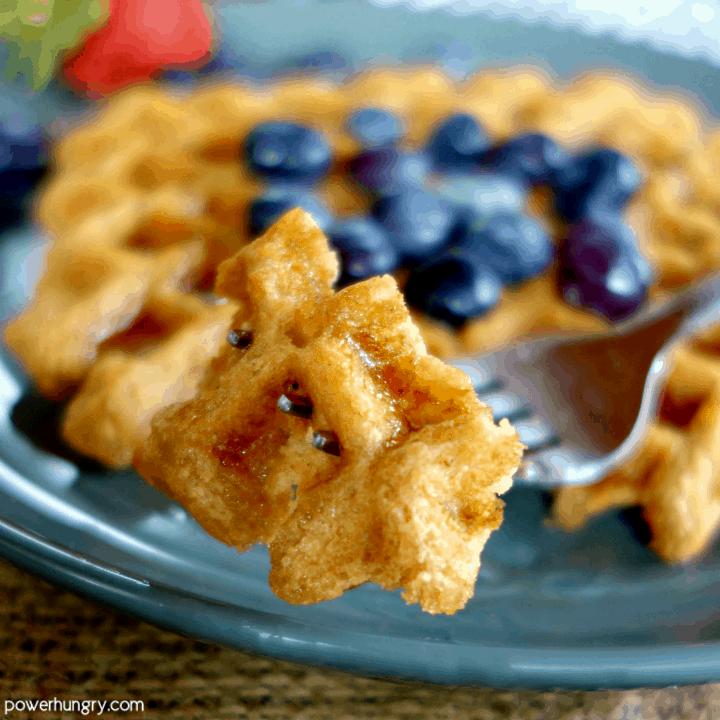 3-Ingredient Chickpea Flour Waffles {vegan, grain-free, gluten-free}