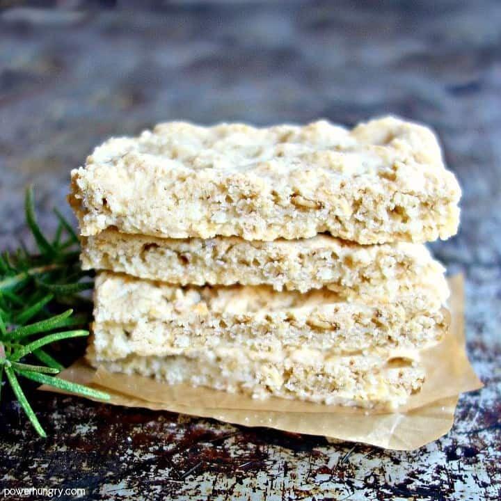 3 Ingredient Almond Flour-Oat Focaccia