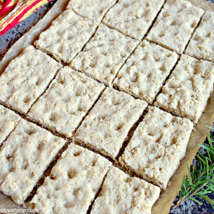 slab of almond flour and oat focaccia