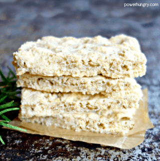 stack of almond flour oat focaccia slices