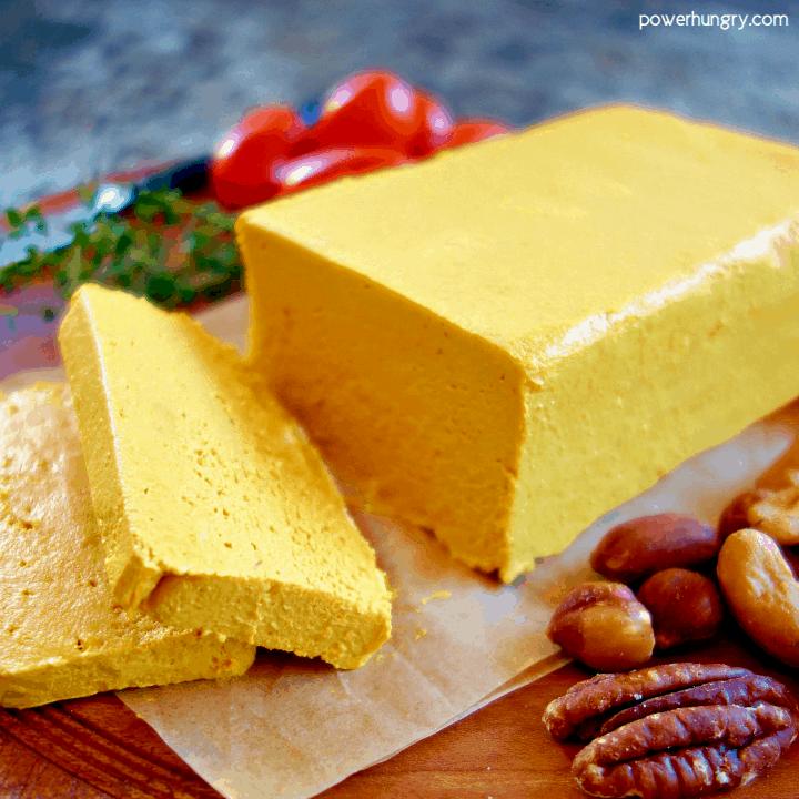 Cashew Cheddar Cheese {vegan, paleo