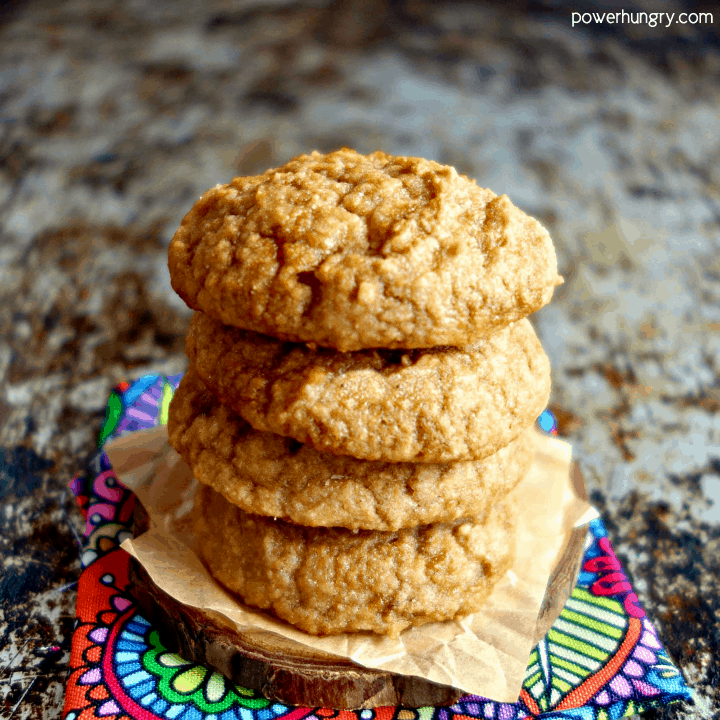 Cassava Flour Applesauce Cookies {5 ingredients, vegan, paleo, oil-free}