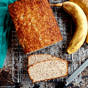 4-Ingredient Banana Bread {vegan, paleo, oil-free, no added sugar}