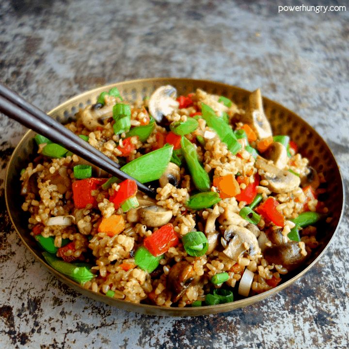 Bowl of Stir-Fried Steel Cut Oats {vegan, gluten-free, easy}