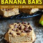 Banana bars made from oast and almond flour (vegan, oil-free)