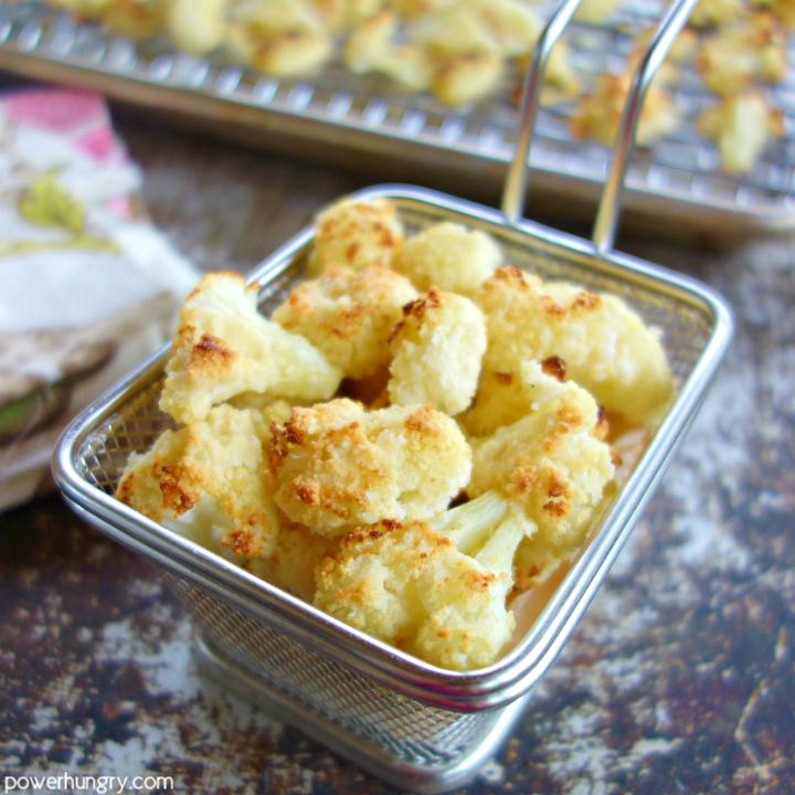 Almond Flour Cauliflower Popcorn {2 ingredients, Vegan, Keto, Oil-Free}