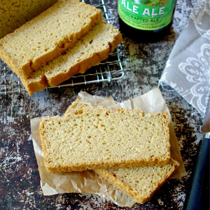 Chickpea Flour Beer Bread {3 ingredients, vegan}