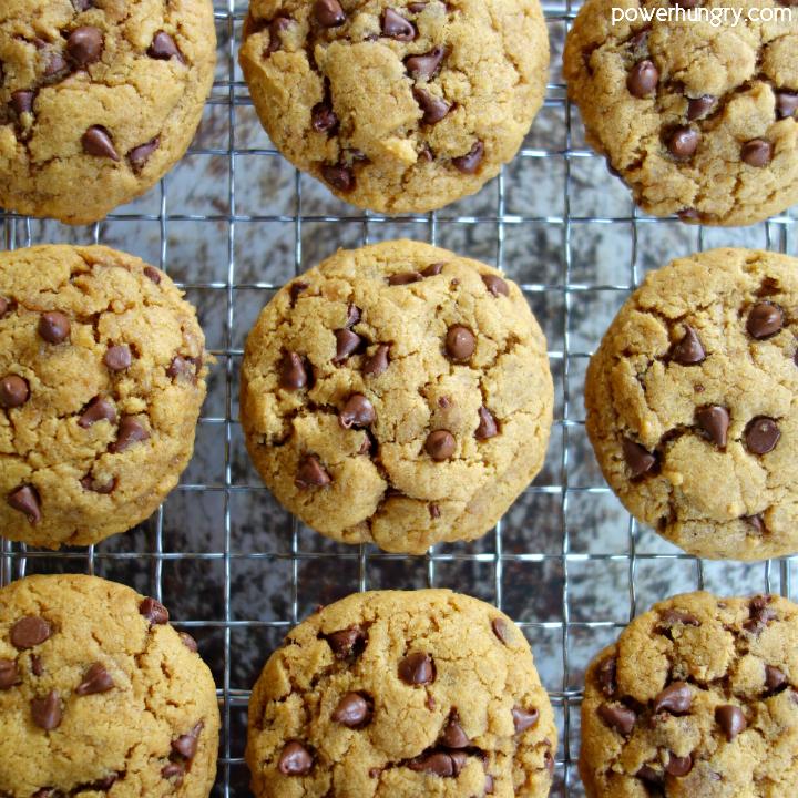 Chickpea Flour Chocolate Chip Cookies {vegan, grain-free}
